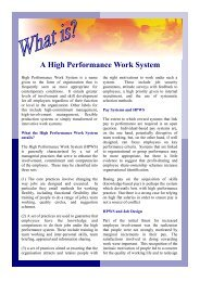 A High Performance Work System - ESRC COI Home Page ...