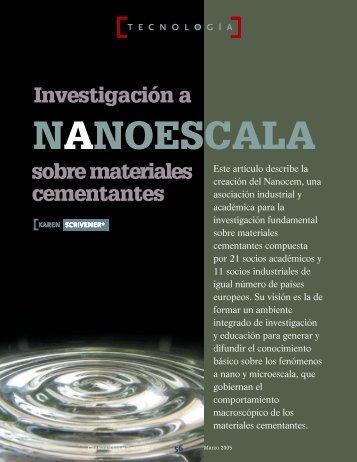 Investigación a Nanoescala Sobre materiales cementantes.