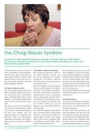 Das Churg-Strauss-Syndrom - CHUV