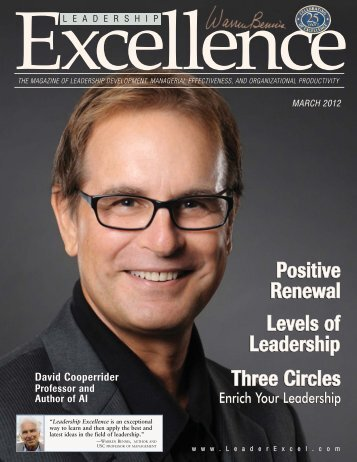 Leadership Excellence (Mar 2012) - The Center for APPRECIATIVE ...
