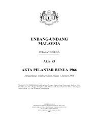 Akta Pelantar Benua 1966 - Jabatan Taman Laut Malaysia