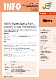 Bildung - Fachverband Sanitär Heizung Klima Baden Württemberg