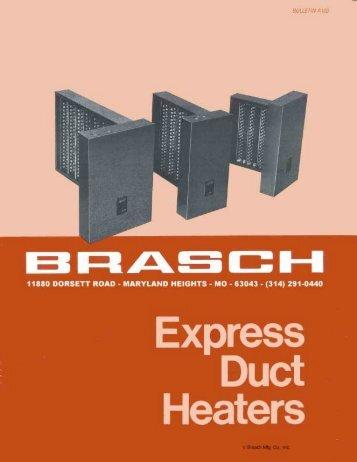 A-103 Express Electric Duct Heater Brochure - Brasch
