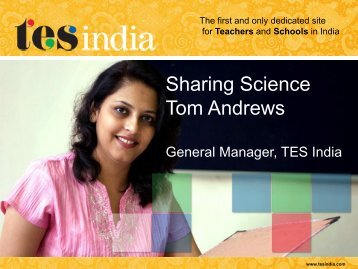 Sharing Science Tom Andrews - British Council Schools Online