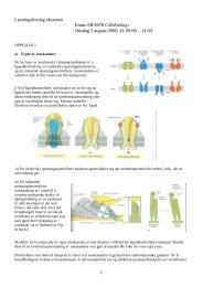 Løsningsforslag eksamen Emne SIF4070 Cellebiologi Onsdag 2 ...