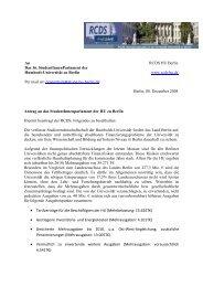 Antrag RCDS Finanzielle Ausstattung HU zu Berlin - StuPa