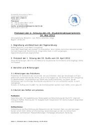 Protokoll der 2. Sitzung des 20 ... - StuPa - HU Berlin