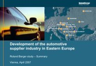 Development of the automotive supplier industry in ... - Roland Berger