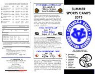 Athletic Summer Camps - Cuyahoga Valley Christian Academy