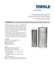 Charcoal Adsorber Canisters - MAHLE Industry - Filtration