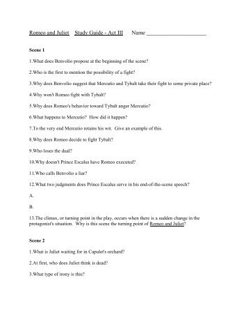 romeo and juliet act 3 study Romeo and juliet: free study guide / notes / analysis / scene summary / synopsis / download by william shakespeare  act v • scene 1 • scene 2 • scene 3.