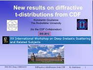 New results on diffractive t-distributions from CDF - The Rockefeller ...