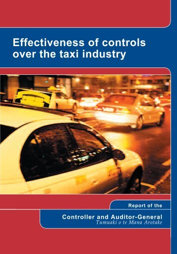 Effectiveness of controls over the taxi industry - Office of the Auditor ...
