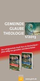 1/2013 gemeinde glaube theologie - Fachzeitschriften Religion und ...
