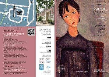 Barber Gallery Brochure April - September 2012 (PDF - 3.55MB)
