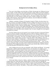 Background to the Oedipus Story The events of the Oedipus story ...