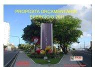 Proposta Orçamentária 2011 - Prefeitura de Aracaju - Sergipe