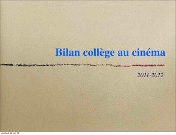 Bilan collège au cinéma