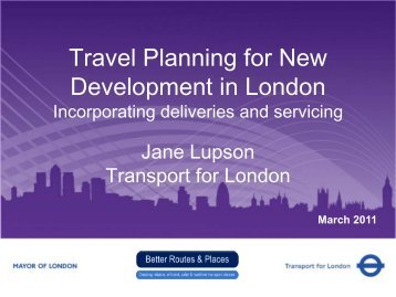 Travel Planning for new development in London (PDF 1041kb)