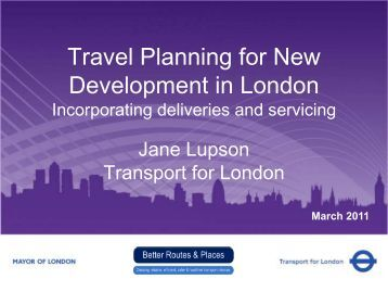 Travel Planning for new development in London (PDF 1041kb)