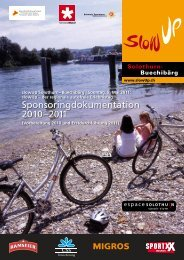 Sponsoringdokumentation 2010–2011 - slowUp Solothurn ...