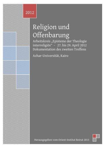 Religion und Offenbarung - Orient-Institut Beirut