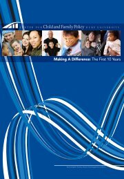 Making A Difference: The First 10 Years - Center for Child & Family ...