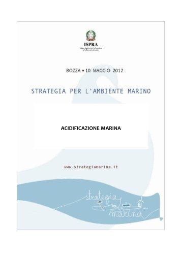 3.2 Acidificazione marina - La strategia marina - Ispra