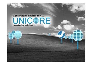 Roger Menday Forschungszentrum Jülich - Unicore