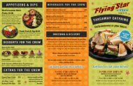 2011 Takeaway Catering Menu Cover - Flying Star Cafe
