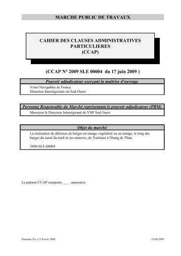 CCAP - Voies navigables de France