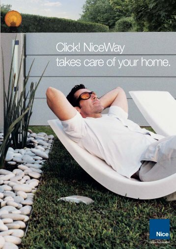 Click! NiceWay takes care of your home. - Nice SpA