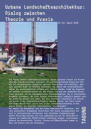 Urbane Landschaftsarchitektur: Dialog zwischen ... - Forum Landschaft