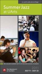 Summer Jazz - The University of the Arts