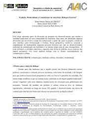 Tradição, Modernidade e Comunicação na Amazônia: Diálogos ...