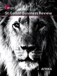 Afrika - A lion on the move? - ESPRIT St. Gallen