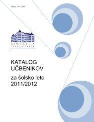 KATALOG UČBENIKOV za šolsko leto 2011/2012