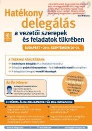 Hatékony delegálás a vezetői szerepek és feladatok tükrében