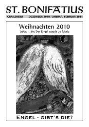 Weihnachten 2010 - Katholische Kirche in Crailsheim