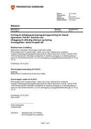 Møtebok Forslag til detaljregulering/reguleringsendring for Gamle ...