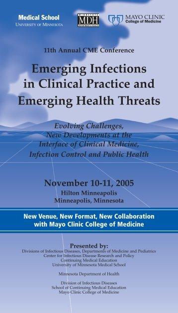 Emerging Infec 2005 - Continuing Medical Education - University of ...