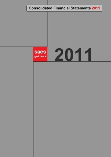 Annual Report 2011 - SAES Getters