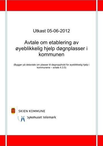 Utkast til avtale om oppbygging av øhj døgntilbud Skien STHF v ...