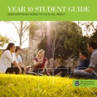 YEAR 10 STUDENT GUIDE - University of Queensland