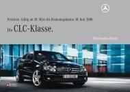 Die CLC - Klasse. - Mercedes Benz
