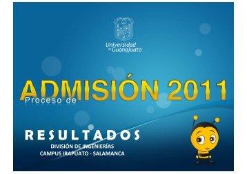 R E S U L T A D O S - Universidad de Guanajuato