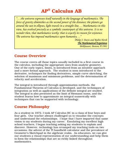 AP Calculus AB pdf
