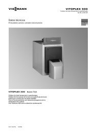 Datos técnicos Vitoplex 300 TX3A (90-500 kW) - Viessmann