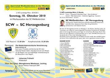 SCW – SC Herzogenburg - Sportclub Weißenkirchen in der Wachau
