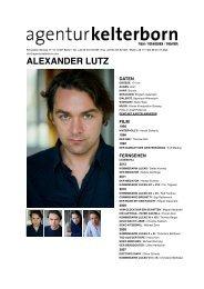 ALEXANDER LUTZ - Agentur Kelterborn